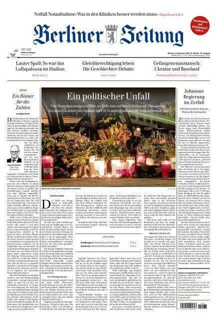 Berliner Zeitung 09.09.2019