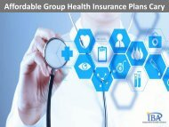 Affordable Group Health Insurance Plans Cary NC by IBA