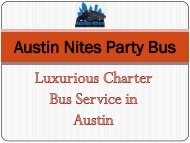 Luxurious Charter Bus Service in Austin