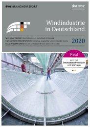 BWE Branchenreport - Windindustrie in Deutschland 2020