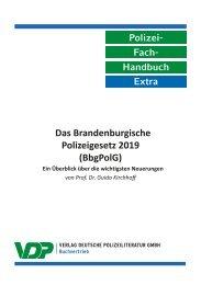 PolFHa Extra: Das Brandenburgischen Polizeigesetz (BbgPolG) 2019
