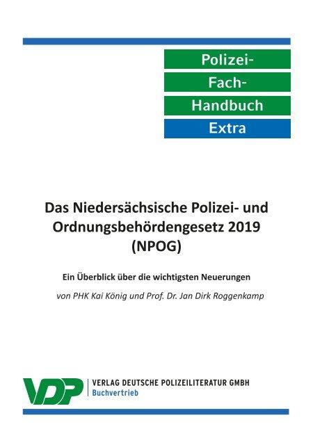 PolFHa Extra - Das Niedersächsische Polizei- und Ordnungsbehördengesetz (NPOG) 2019