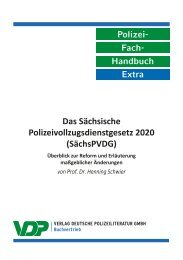 PolFHa Extra - Das Sächsische Polizeivollzugsdienstgesetz (SächsPVDG) 2019