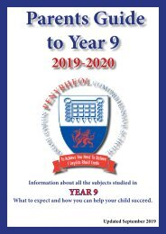 Year 9 Parent Guide September 2019