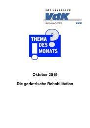 TdM Oktober 2019 - Geriatrische Reha