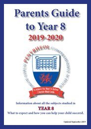 Year 8 Parent Guide September 2019