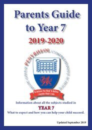 Year 7 Parent Guide September 2019