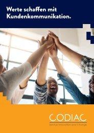 Codiac Broschüre »Werte schaffen mit Kundenkommunikation«