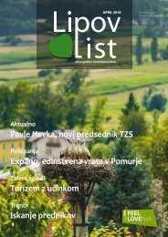 Revija Lipov list, april 2019