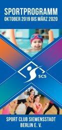 Sportprogramm Winter 2019-2020
