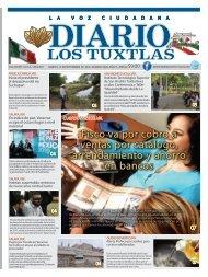 Edición de Diario Los Tuxtlas del día 10 de Septiembre de 2019