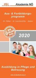 Aus- & Fortbildungsprogramm 2020