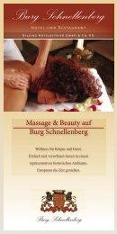 Burg-Schnellenberg Broschüre Massage & Beauty