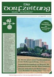 Die Dorfzeitung Reinickendorf Juli/August 2019