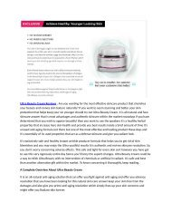 Is Ultra Beauty Cream Scam?! Reviews Price, Benefits & Buy Ultra Beauty