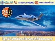 Take Benefit of Sky Air Ambulance in Bhubaneswar with Highly Experienced Medical Staff