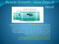 Rezola Growth (South Africa) - Get Smooth Hair
