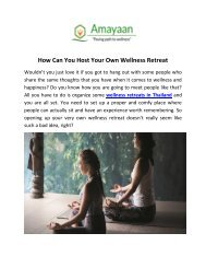How Can You Host Your Own Wellness Retreat