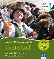 Bayerisches Erntedankfest 2019 in Bad Gögging