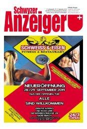 Schwyzer Anzeiger – Woche 37 – 13. September 2019