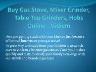 Buy Gas Stove Mixer Grinder Table Top Grinders Hobs Online - Vidiem