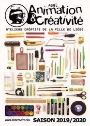 Les ateliers créatifs - saison 2019-2020