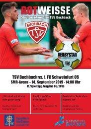 Stadionzeitung TSV Buchbach - 1.FC Schweinfurt 05