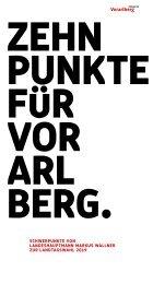 VP Wahlprogramm 2019 | Zehn Punkte für Vorarlberg