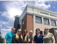 Team in front of Danner Dental building