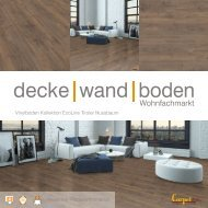 dwb Produktinformation VinylBoden Kollektion EcoLine Tiroler Nussbaum