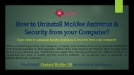 Uninstall McAfee Antivirus & Security  McAfee Support UK