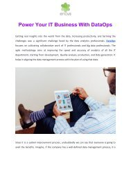Power Your IT Business With DataOps