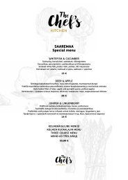The Chefs Kitchen menu Saaremaa