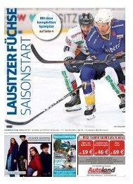 Saisonstart Eishockey Lausitzer Füchse 2019