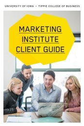 Marketing Institute Client Guide