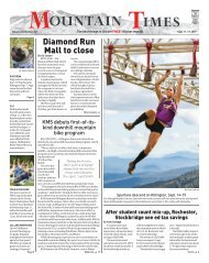 The Mountain Times - Volume 48, Number 37: Sept. 11-17, 2019