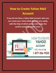 How to Create Yahoo Mail Account?