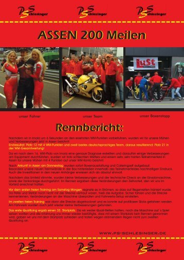 Rennbericht Assen (PDF Format) - PS-Schlesinger Endurance