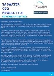 TasWater CDO Newsletter September 2019