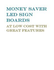 Money Saver Led Sign Boards at Low Cost With Great Features