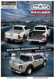 Maxliner Pick-Up Accessories Brochure - MAXTOP MAXCOVER MAXLINER