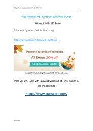 Microsoft MB-220 Exam Dumps
