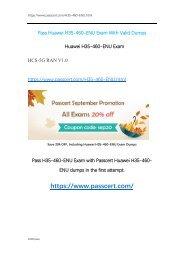 HCS-5G RAN V1.0 H35-460-ENU Dumps