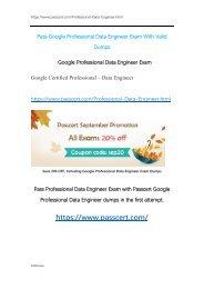 Google Professional Data Engineer Exam Dumps