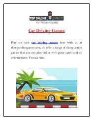 Play Car Driving Games | The Top Online Games