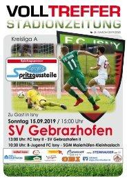 2. Ausgabe Stadionzeitung 2019/20
