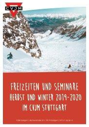Freizeitprospekt 2019-2020 - Gemeindebriefdruckerei