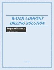 Water Company Billing Solution - spicer-baer.com
