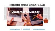 GUIDELINES ON CUSTOMER ADVOCACY PROGRAMS