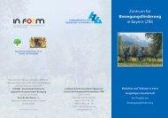Bewegungsförderung - Landeszentrale für Gesundheit in Bayern e.V.